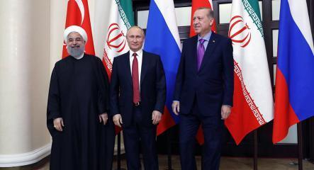 بوتين وأردوغان وروحاني