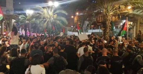 الشعبية: مظاهرات حيفا تستعيد دور الداخل المحتل ووحدة الأرض والشعب