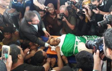 تشييع جثمان الشهيد أبو مصطفى في خانيونس