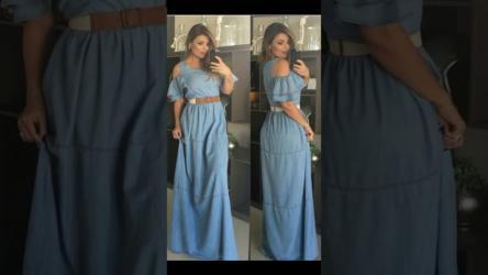 الفستان الجينز أحدث موضة في صيف 2018