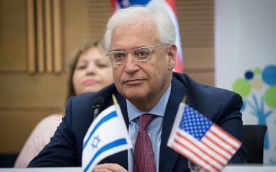 السفير الأميركي لدى إسرائيل يوزع دعوات حفل نقل السفارة إلى القدس