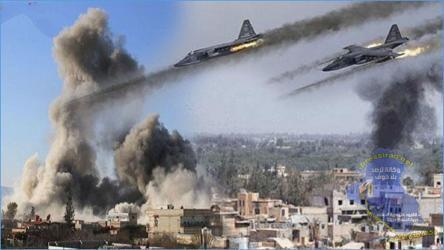 شاهد| طائرات الاحتلال تقصف عدة مواقع في قطاع غزة