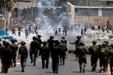 اصابات خلال مواجهات مع الاحتلال في بلدة بورين