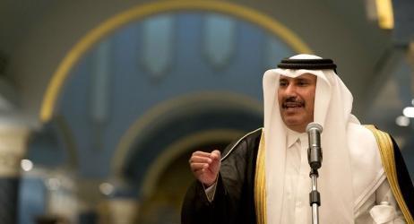 """بن جاسم: """"صفقة القرن"""" تنفذ بدعم وتأييد دول عربية كبرى"""