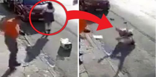 شاهد| كاميرات مراقبة ترصد شبحًا يهاجم فتاة