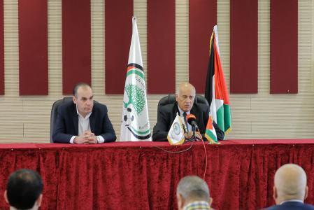 الرجوب: الصحفي الفلسطيني يجب أن يكون حرًا ولا رقيب عليه إلا ضميره