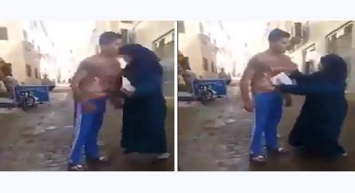 شاهد.. أم مصرية تنطح ابنها في وجهه بسبب رسوبه بالامتحان!