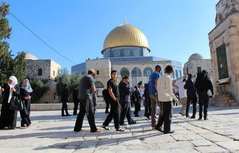 مستوطنون يقتحمون المسجد الأقصى بحماية مشددة