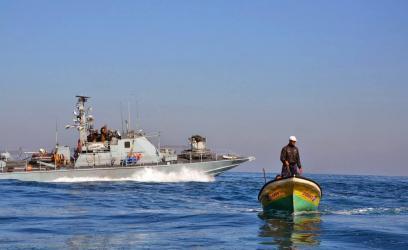 بحرية الاحتلال تعتقل 4 صيادين من بحر شمال غزة