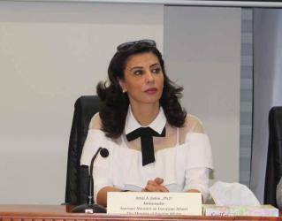 السفيرة جادو لأميركا وإسرائيل: أوقفوا جرائمكم حتى لا تذهبوا للجنائية الدولية