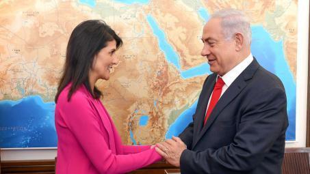 """هايلي لنتنياهو: """"عباس هو من لا يساعد الفلسطينيين وليس إسرائيل"""""""