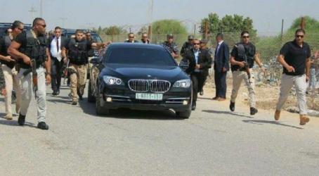 مجهولون يعترضون موكب وزراء أثناء توجههم من غزة إلى رام الله
