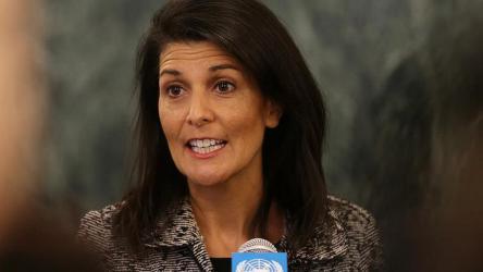 نيكي هيلي تدعى: حماس مصدر العنف والاضطرابات في قطاع غزة