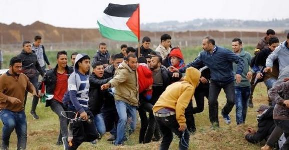 12 إصابة شرق غزة واحراق برج اتصالات للاحتلال