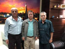 رئيس الهيئة الوطنية للمتقاعدين العسكريين واللواء جهاد الغول يجتمعان مع وزير الصحة
