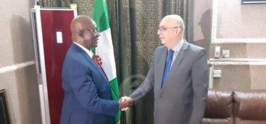 """السفير ابو سعيد يلتقي الوزير """"ويلز"""" ويوقع بروتوكولين في نيجيريا"""