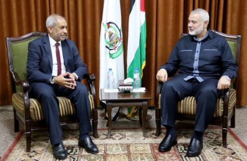 تفاصيل لقاء هنية مع سفير دولة جنوب أفريقيا بغزة