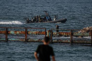 استشهاد صياد برصاص الزوارق المصرية خلال عمله في بحر رفح جنوب غزة