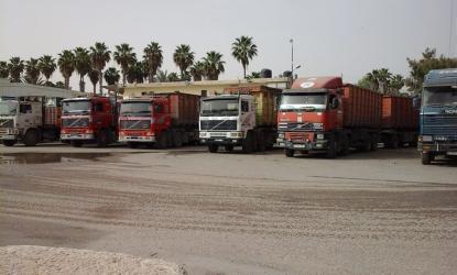 شركات النقل بقطاع غزة تعلق عملها في معبر كرم أبو سالم