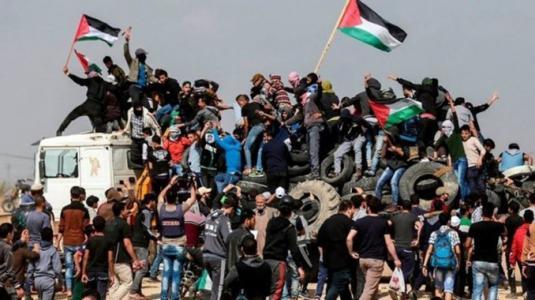 اخبار مسيرات العودة بغزة