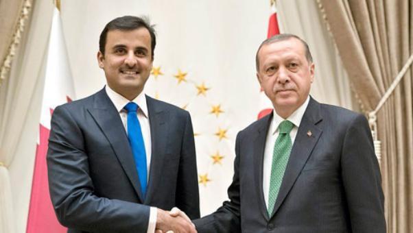 رجب طيب أردوغان و أمير دولة قطر الشيخ تميم بن حمد آل ثاني