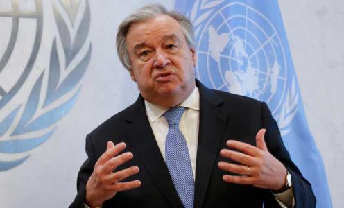 غوتيريش: الأمم المتحدة لن تخذل الشعب الفلسطيني
