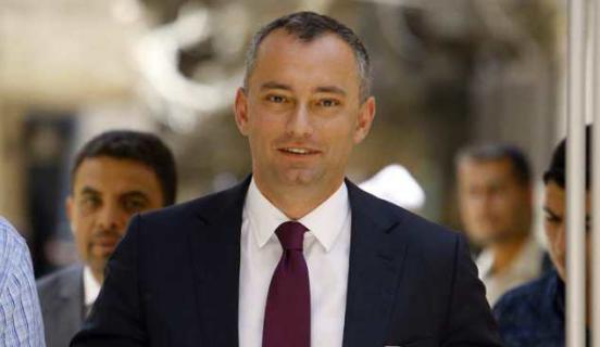 نائب ملادينوف يصل غزة عبر معبر ايرز
