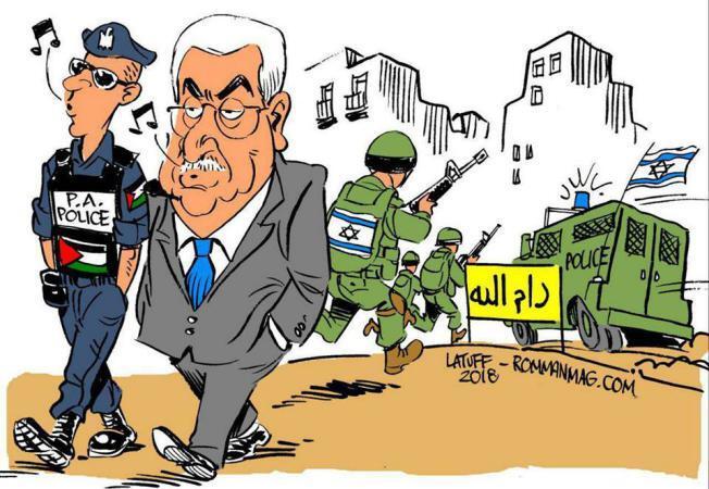 الرسام البرازيلي كارلوس لاتوف يرسم مشهد الحدث في رام الله والضفة.