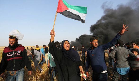 """هيئة مسيرات العودة: الجمعة المقبلة ستحمل اسم """"المقاومة حق مشروع"""""""