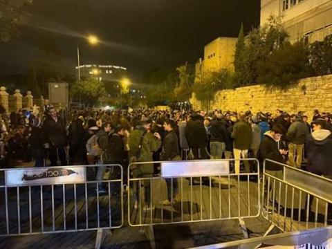 مستوطنون يحتجون في القدس وآيزنكوت يجري جلسة تقييم أمني (فيديو)