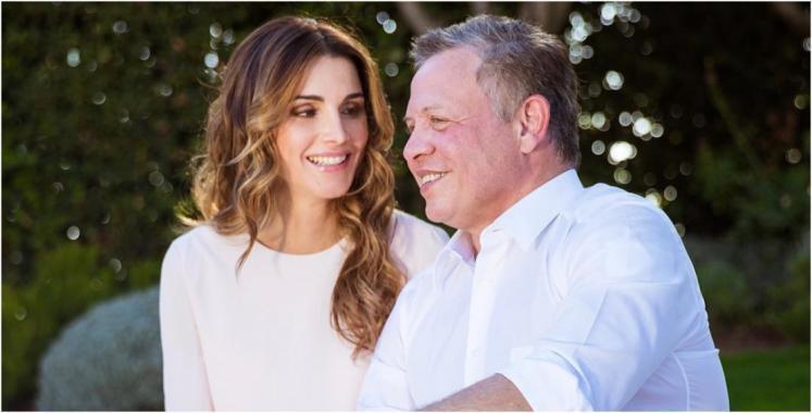 الملكةُ رانيا للملك عبدالله: محظوظةٌ بك.. وبأنني رفيقةُ دربك!