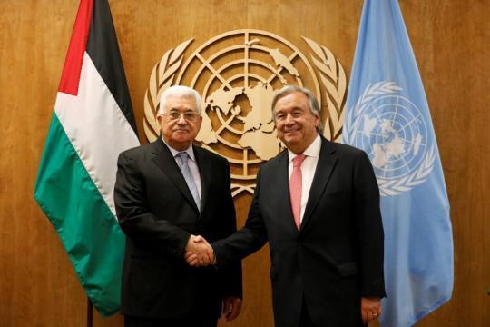 غوتيريش يستقبل الرئيس عباس في نيويورك الأسبوع المقبل