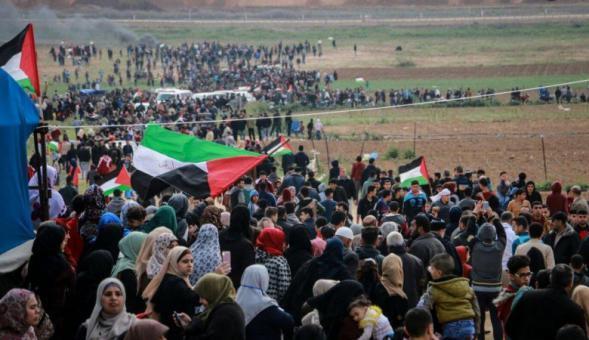 """أهالي غزة يستعدون للجمعة الـ (41) من مسيرات العودة""""مقاومة التطبيع"""""""