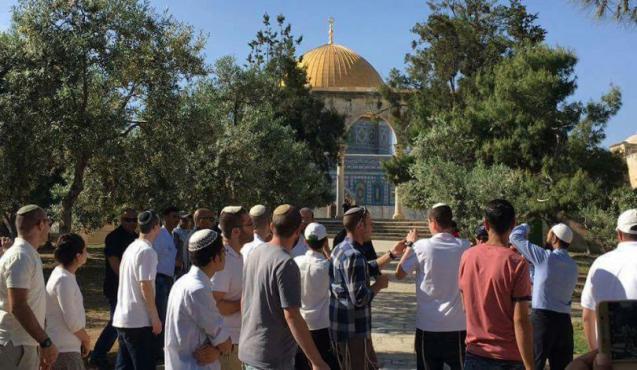 قائد شرطة الاحتلال يقود اقتحامات المسجد الأقصى