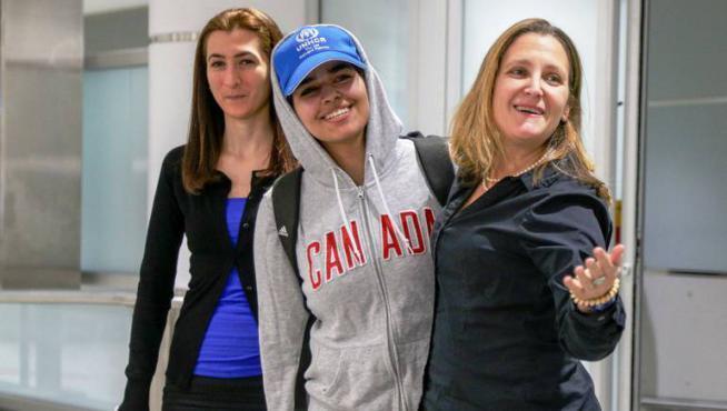 وكالة كندية تعين حراسة للفتاة السعودية رهف