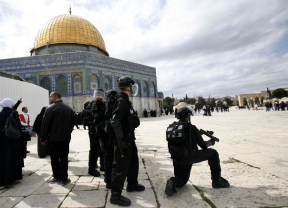"""أكتب العنوان هنا استنفار واسع لـ """"الاحتلال الإسرائيلي"""" في محيط المسجد الأقصى والبلدة القديمة"""