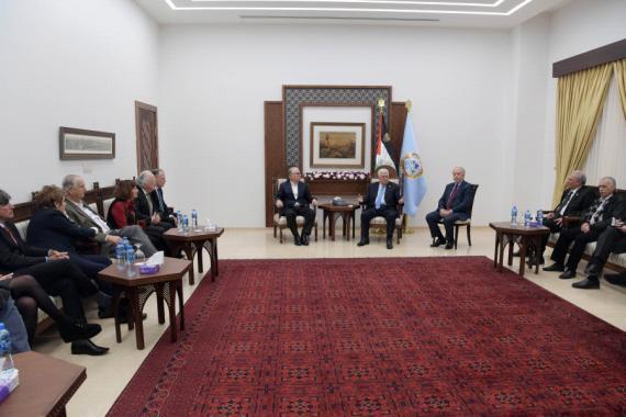 تفاصيل اجتماع الرئيس أبومازن مع الوفد الإسرائيلي