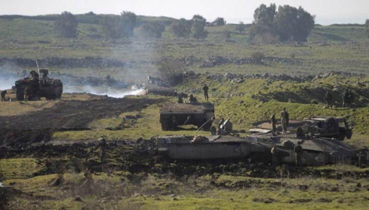 احتراق آلية عسكرية لجيش الاحتلال شرق مخيم البريج