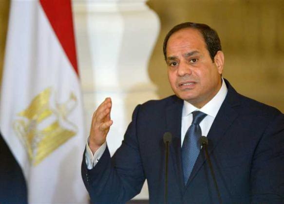 الرئيس المصري: لا بديل عن التوصل لسلام بين الفلسطينيين وإسرائيل