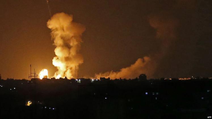 قصف إسرائيلي شمال غزة الآن