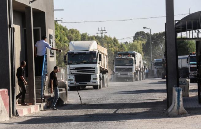 موظفو كرم أبو سالم: أمن غزة استلم إدارة المعبر التجاري