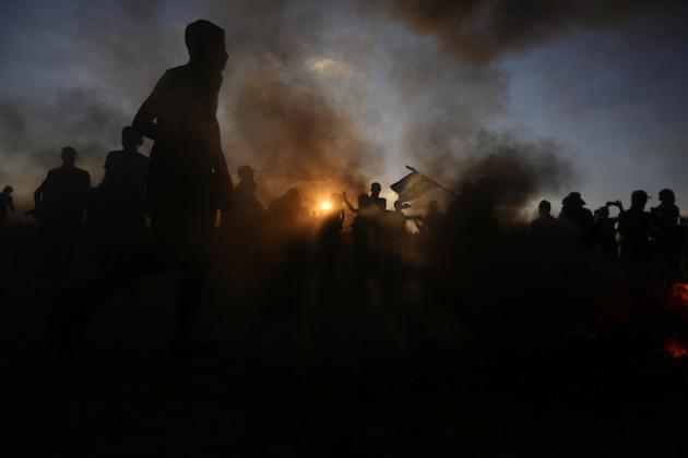 خانيونس.. إصابة بالرصاص الاحتلال مع انطلاق فعاليات الارباك الليالي