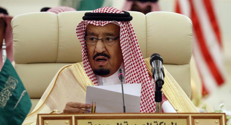 ملك السعودية: القضية الفلسطينية على رأس اهتمامات المملكة