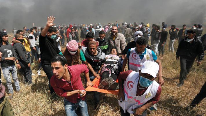 """شهيد وإصابات برصاص الاحتلال في """"مليونية الأرض والعودة"""" شرق قطاع غزة"""