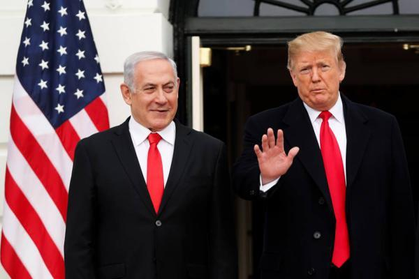 شاهد| ترامب يعترف بالسيادة الإسرائيلية على الجولان