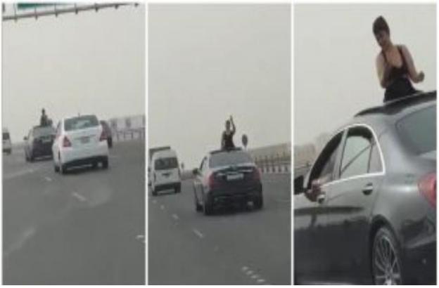 شاهد| فتاة التي ظهرت ترقص بملابس فاضحة من فتحة السيارة في البحرين.. هكذا عاقبتها المحكمة!