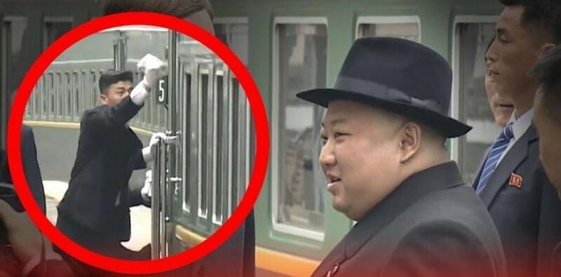"""""""لقطة عجيبة"""" لحراس زعيم كوريا الشمالية عند وصول قطاره لروسيا"""