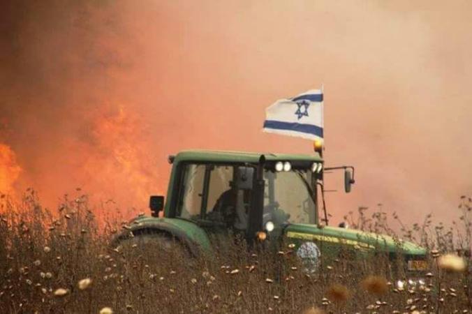 """اندلاع ثلاثة حرائق في """"غلاف غزة"""""""