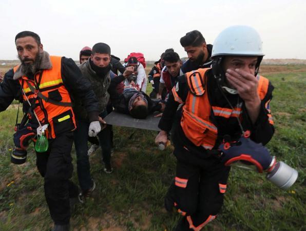اصابات خلال قمع قوات الاحتلال للمشاركين في مخيمات العودة شرق غزة