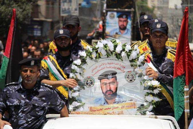 النيابة العامة بغزة: الشرطي حسان الحساسنة توفي بالخطأ من سلاح أحد زملائه